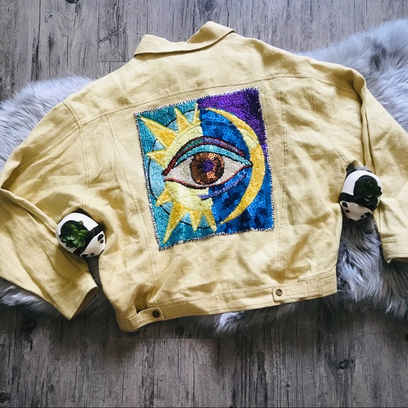 Vintage Jackets & Blazers - Vintage All Seeing Eye Embellished Jacket